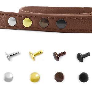 Double-Cap-Rivets-4-5-6x6-7x7-9x8-11x10-Stud-Rapid-Rivets-Leather-Craft-Repair