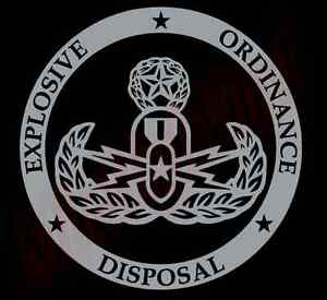 PICK-COLOR-SIZE-EOD-Bomb-Tech-Circle-Logo-Vinyl-Decal-Sticker-Vinyl-Glass