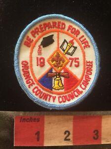 Vtg-1975-ORANGE-COUNTY-COUNCIL-CAMPOREE-Graduation-Cap-BSA-Boy-Scouts-Patch-70ZZ