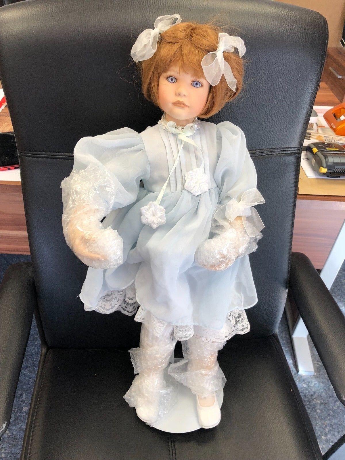 Ute Kase Lepp ⭐️⭐️ Porzellan Puppe 65 cm. ⭐️⭐️ Top Zustand