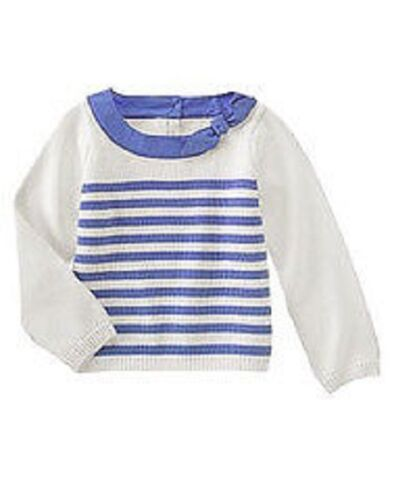 NWT girls 4 6 gymboree HOLLAND DAYS striped DELFT BLUE stripe SWEATER COTTON~PIC