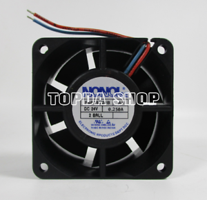 Image Is Loading Nonoise F6025x24b Ah Double Ball Dc Cooling Fan