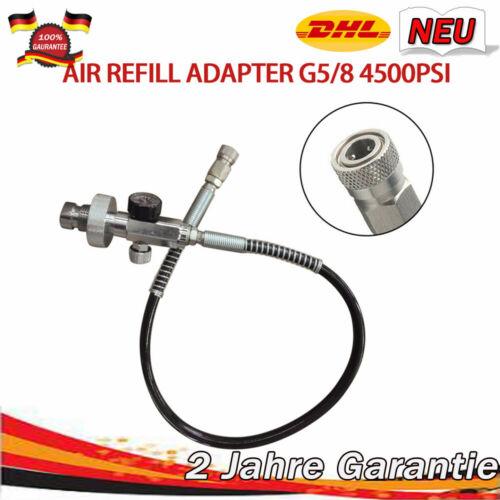 Paintball Fill Station Ladekit 300bar 4500psi Din Luft Refill Adapter Schlauch