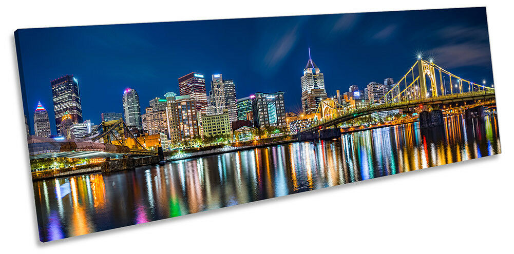 Pittsburgh City City City Skyline Picture PANORAMA CANVAS WALL ART Print ec70d6