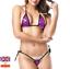 Sexy-Micro-Bikini-Shiny-Pattern-Women-Brazilian-G-StringThong-Swimwear-Swimsuit miniatura 8