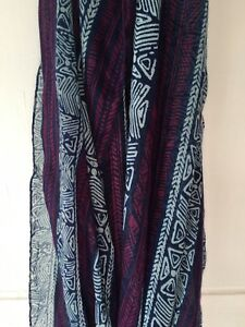 ef3417ba9b4 Details about Women's Infinity Lightweight Scarf Blue And Purple Geometric  Ethnic Print