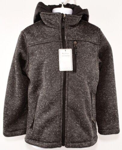BEN SHERMAN Boys/' Kids/' Knitted  Shell Hooded Jacket 7 years Dark Heather Grey