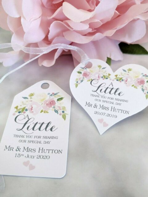 OF02 Personalised Wedding Favour Tag Thank You for Sharing our Special Day