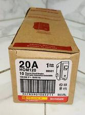 10x Homeline Square D Hom120 Hom120cp Circuit Breaker 20 Amp 1 Pole 120 Volts