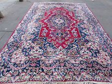 Old Shabby Chic HandMade Traditional Persian Oriental Wool Pink Carpet 360x252cm