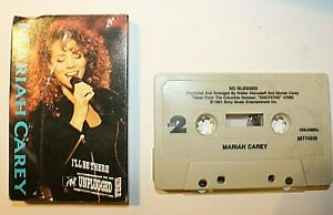 Mariah Carey I'll Be There Unplugged Cassingle Cassette Tape Single 1990 Vintage