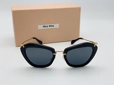 MIU MIU SMU 10N 1AB 1A1 Cat Eye Black Gray Rose Gold Gradient Sunglasses 55mm | eBay