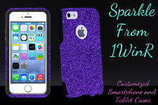 Otterbox Case Customized Glitter For iPhone 5/5s/SE Purple/Black Sparkles