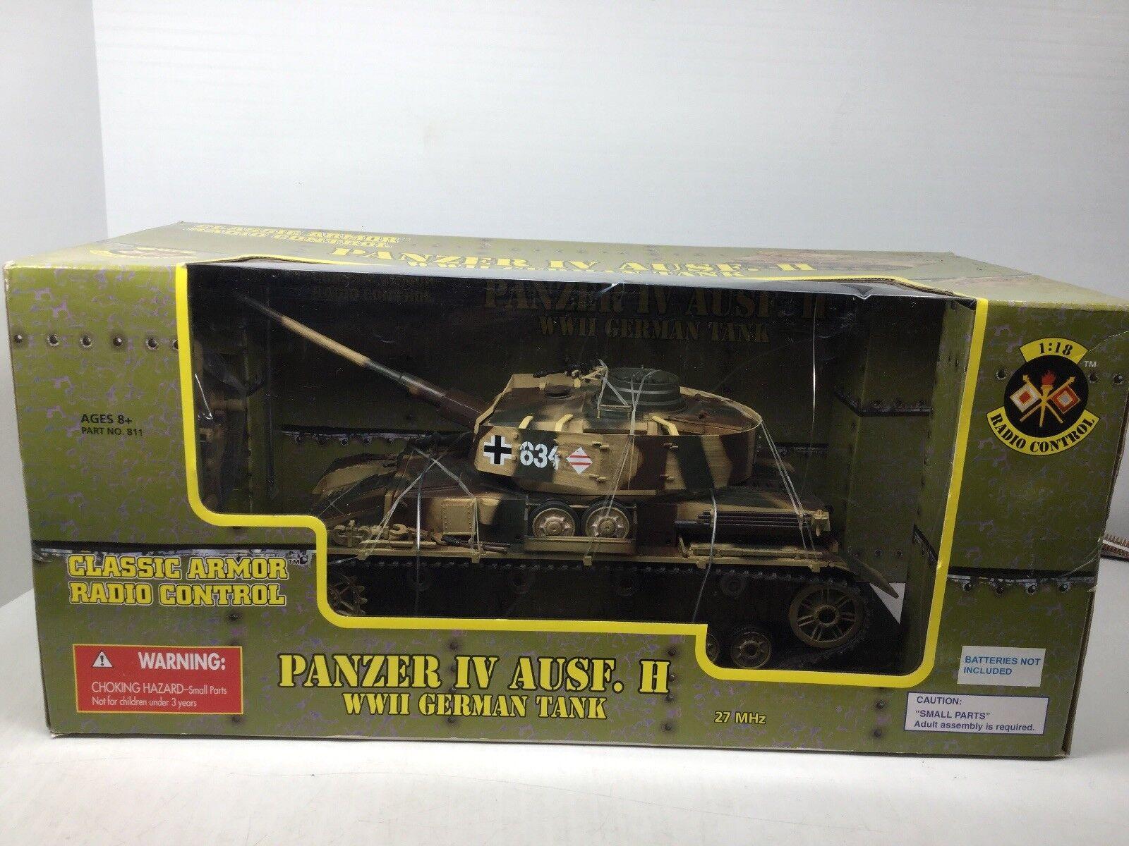 1  18 German Panzer IV Ausf H (REMOTE (REMOTE CONTROL TANK) 21st Ultimate Soldier NIB
