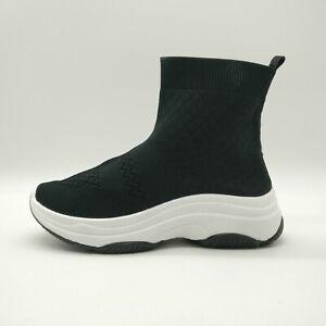 17df7c0c343f2 Womens Designer Style Knit Speed Sock Runner Ladies Hi Top Trainer ...