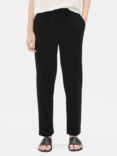 Eileen Fisher Sz Large Black Organic Cotton Lofty