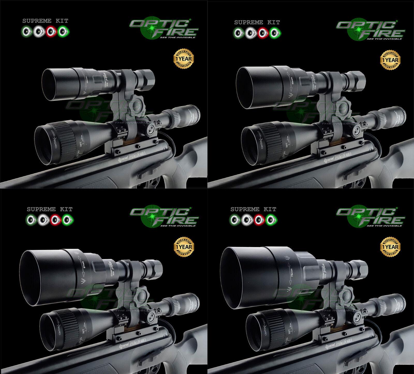 Opticfire ® AG 4 Led De Alta Potencia Lámpara de Caza Lamping Kit de montaje de alcance NV Antorcha