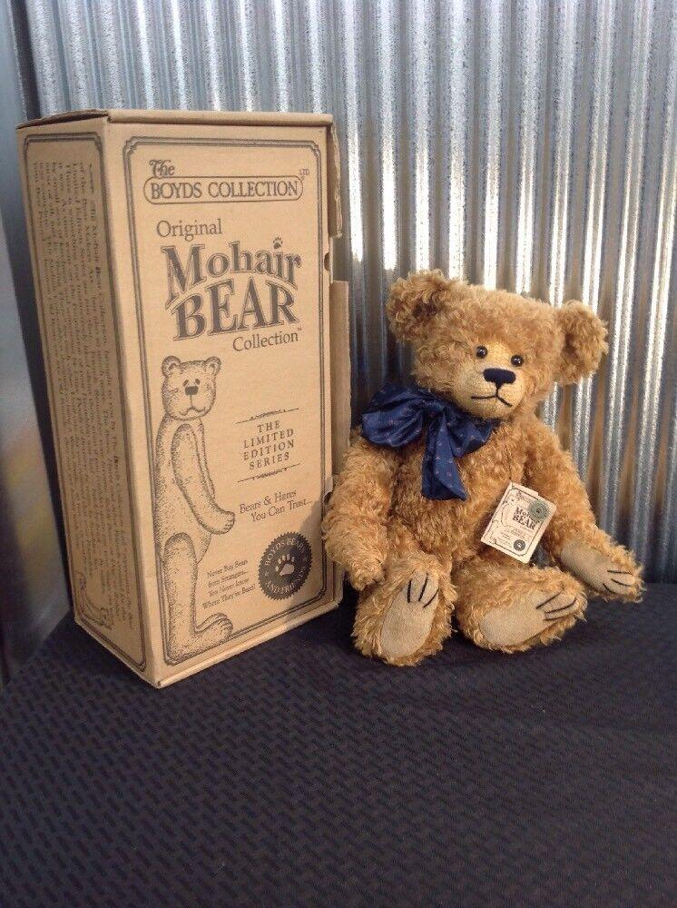 Boyds Bears Bears Bears Plush LINCOLN B BEARINGTON Fabric Mohair Bears 59002208 With Box 7c9a1e