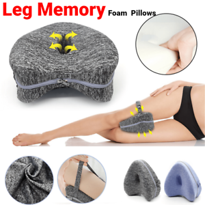 Memory Foam Leg Knee Support Pillow Orthopedic Firm Relief Pain Washable Cover