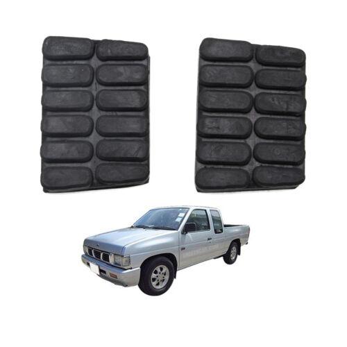 Pedal Pad Brake Clutch Black 2 Pc Fits Nissan Big-m D21 Pickup 1989-1997