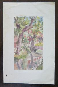 2019 Nouveau Style Petit Peinture Aquarelle Vintage Paysage De Style Impressionniste P28.4 Nous Avons Gagné Les éLoges Des Clients