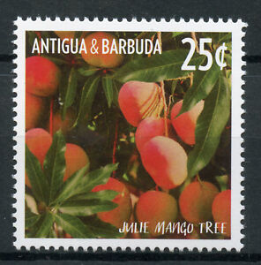 Antigua & Barbuda 2015 Neuf Sans Charnière Fruits Defin Julie Mango Tree 1 V Set Fruits Timbres Clair Et Distinctif