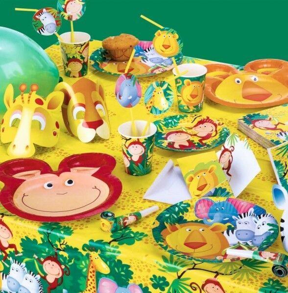Safari Party Dschungel Deko Kindergeburtstag Motto Geburtstag Tiere Jungle Zoo