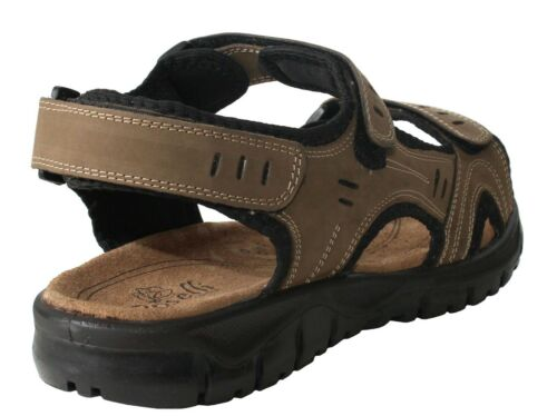 New Men/'s Leather summer casual Walking Sport Shock Absorber Adjustable sandals