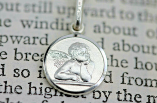 925 Sterling silver Angel pendant /& chain free gift box WJS67