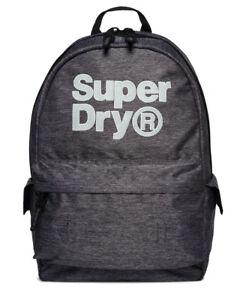 New Mens Superdry Logo Montana Rucksack Grey