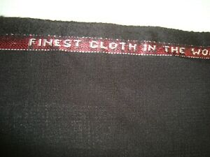 3-83-yd-HOLLAND-SHERRY-WOOL-Fabric-Suiting-1836-Finest-Cloth-8-oz-Black-138-034-BTP