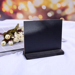 6xBlackBoard Chalkboard Sign Table Top Stand Wedding Rustic Country Menu Display