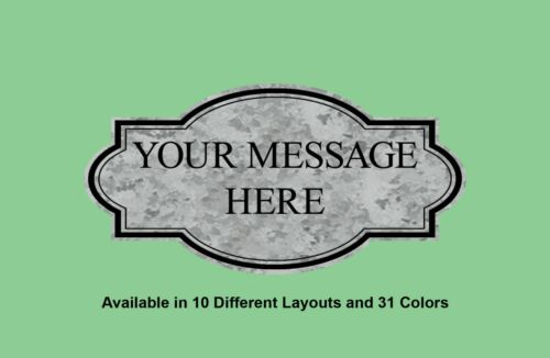 Personalized Custom Laser Engraved Accent Border Plastic Signs Indoor /& Outdoor