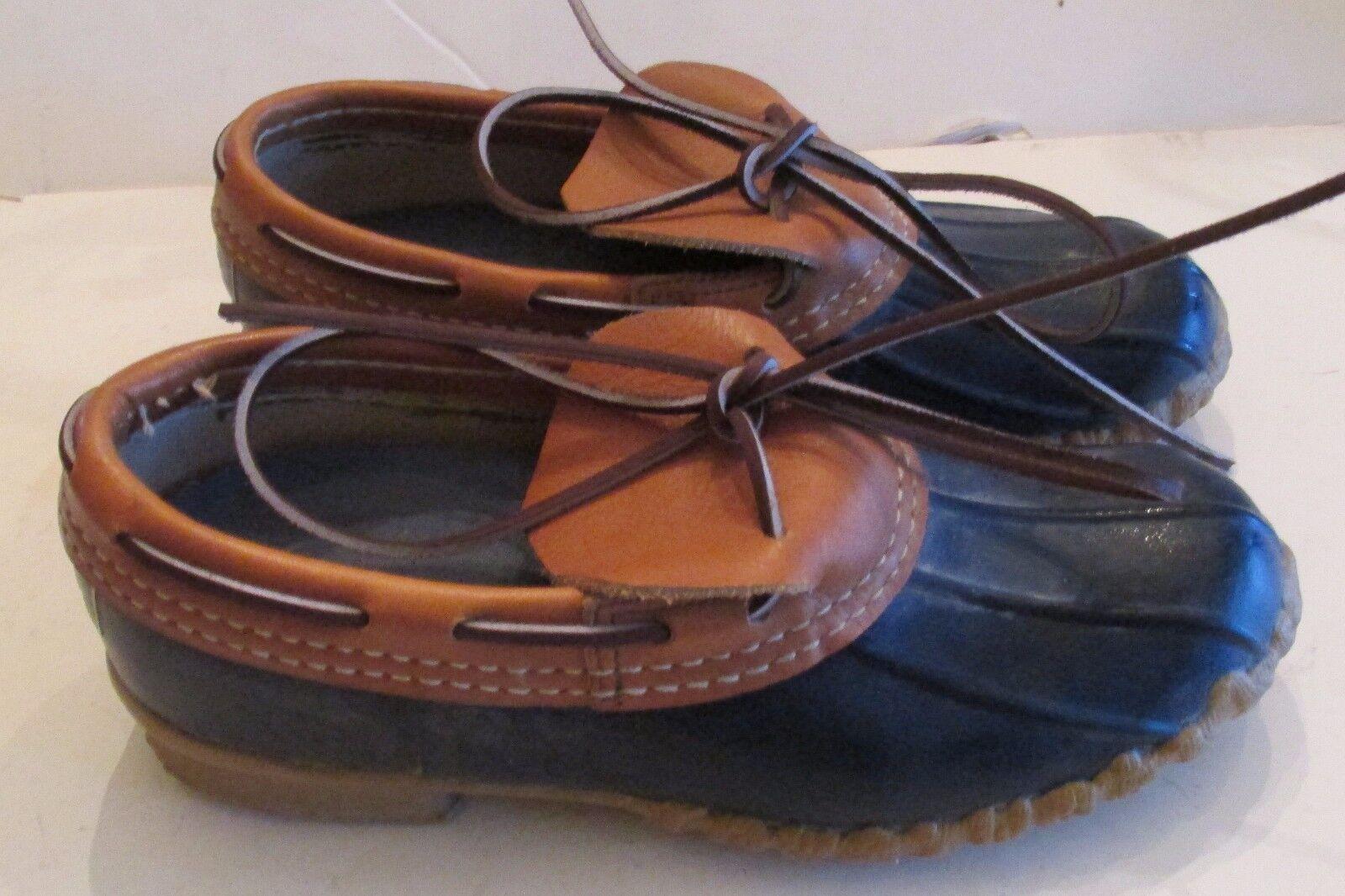 Vintage Women's LL Bean 8 M Medium  Navy Low Gum shoes Boots  USA Old Logo Maine