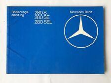 Bedienungsanleitung Betriebsanleitung Mercedes 280S 280SE 280SEL W126 W 126