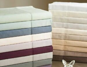 NEW-White-Royal-Sateen-510-EC-Royal-Twill-Queen-Flat-Sheet-MSRP-115