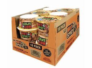 18ct-HOT-amp-SPICY-RAMEN-Chicken-Chili-Flavor-Cup-Noodles-Instant-Soup-Bowl-3-32oz