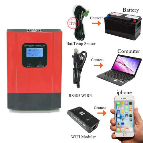 60A 40A MPPT Solar Charge Controller 12V//24V//36V//48V Auto Battery Regulator US