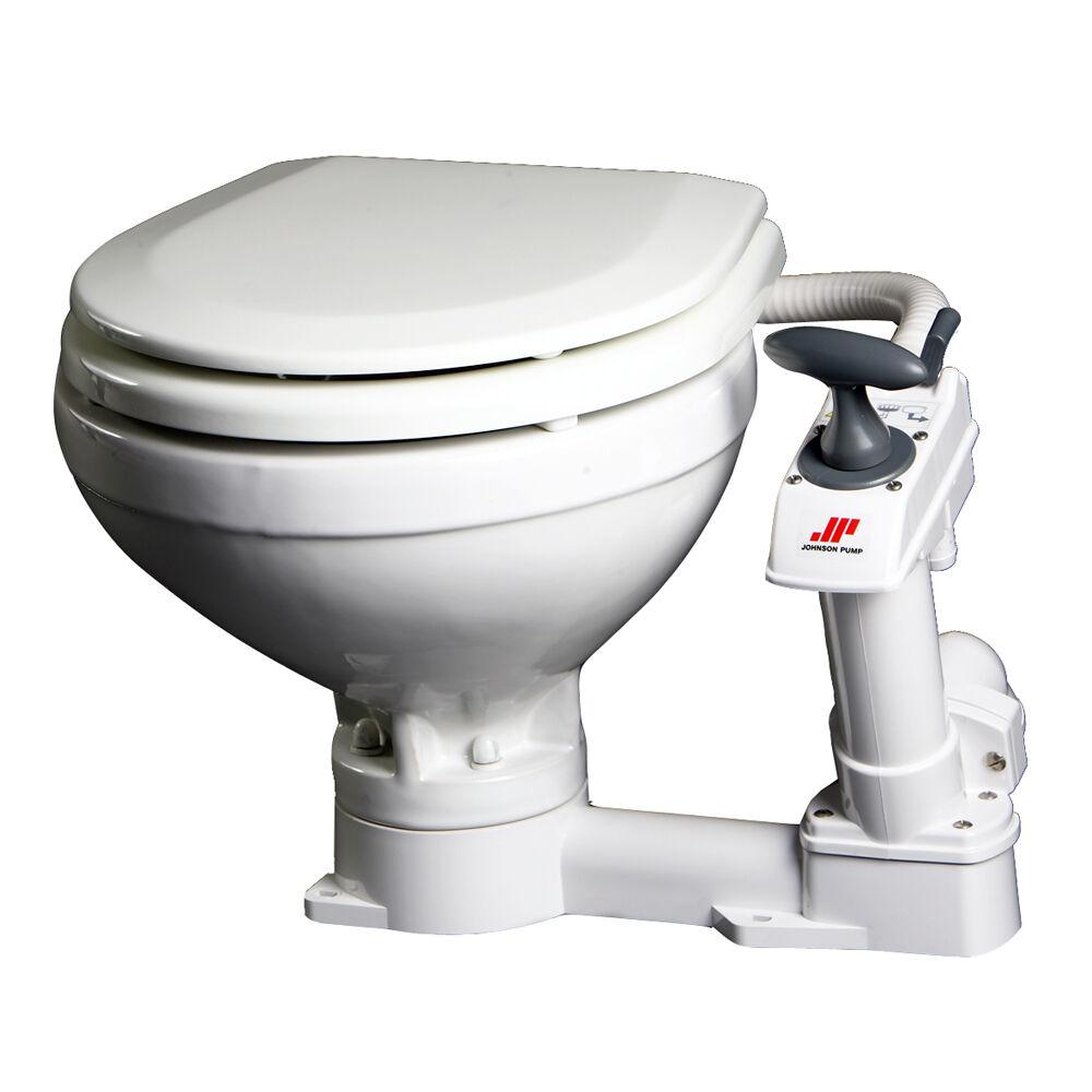 Johnson  Pump Compact Manual Toilet model 80-47229-01  authentic