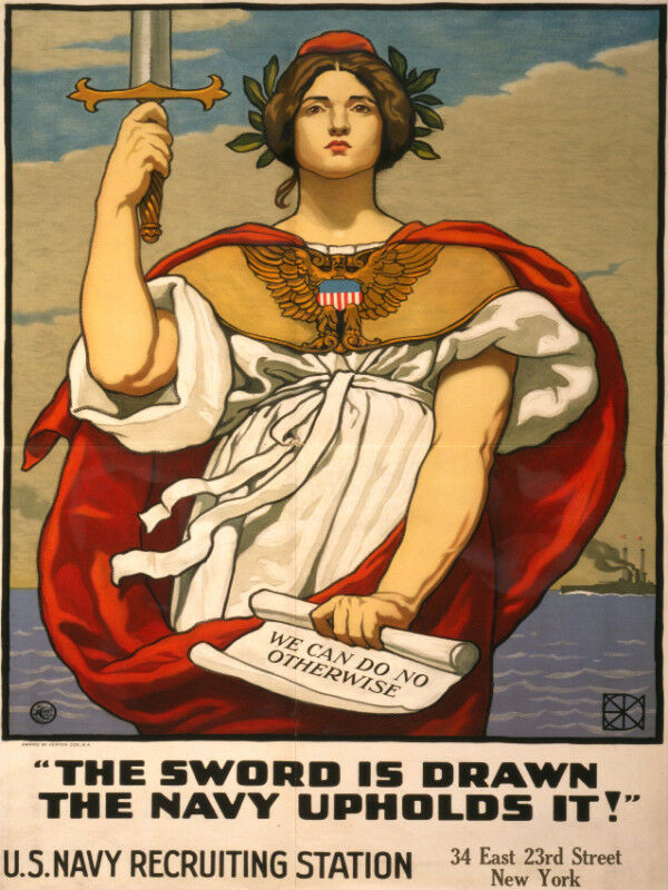 Vintage POSTER.Stylish Graphics.D' Sword of the NAVY.Wall Art Decor.1238