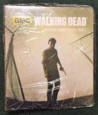Walking Dead Season 4 Part 1 Trading Card Binder Album with B1 Metal Card