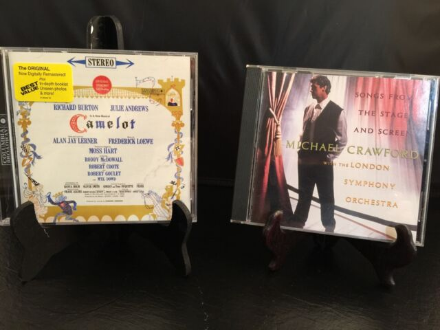 CD Albums Set of 2 Songs from the Stage & Screen Crawford Camelot Broadway Cast