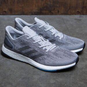 de8ff29ea NEW Adidas PureBoost DPR BOOST Men s Running Shoes Gray Black Blue ...
