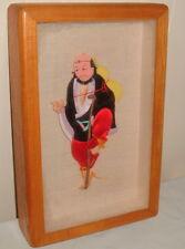 GREG COPELAND 3D  JAPANESE CUT OUT BUNRAKU MAN w/CANE SHADOW BOX SCULPTURE ART