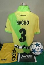 Match worn FOOTBALL shirt Rayo Vallecano MADRID YELLOW away rare versión Nacho 3