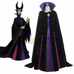 Details About Maleficent From Sleeping Beauty Dress Costume Halloween Cosplay Costume V02