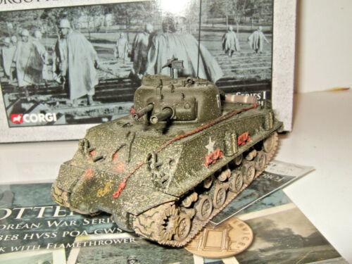 Corgi US51003 M4 A3 E8 Tanque Sherman con lanzallamas Marines en escala 1:50.