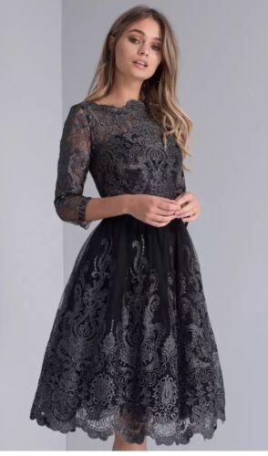Prom Taglia Mettalic 8 Uk Chi 'lottie' Black Occasioni Dress London xq8fBI