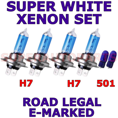 Fits Volvo V70 1997-2007 Set H7 H7 501 Halogène Xénon Super Blanc Ampoules