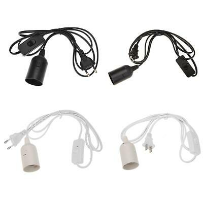 E27 Lampenfassung mit Kabel 1,7m Schalter Stecker Stromkabel Fassung Netzkabel
